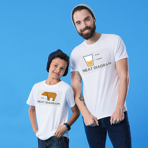 White Neat Diagram Father And Son Tshirt