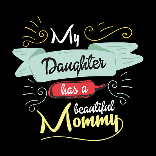 Black Beautiful Mommy Wifey Dad & Daughter Tees