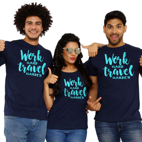 Work Hard Travel Harder Friends Tees