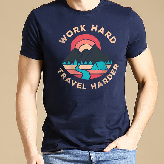 Work Hard-Travel Harder, Matching Travel Tees