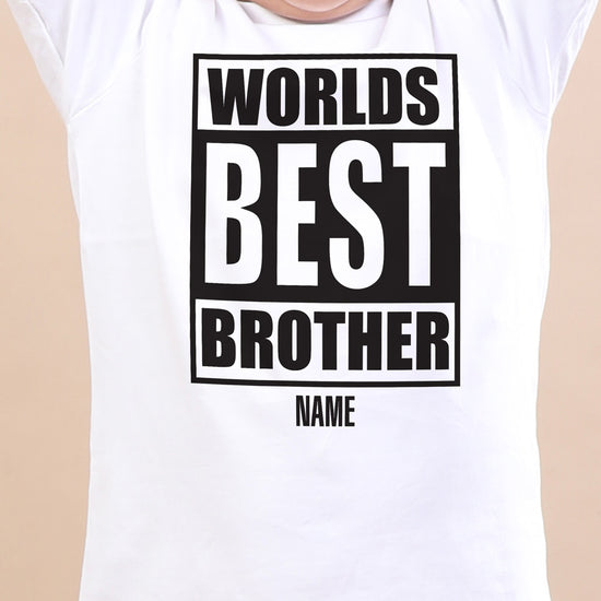 World's Best Brother, Personalised Tee For Brother