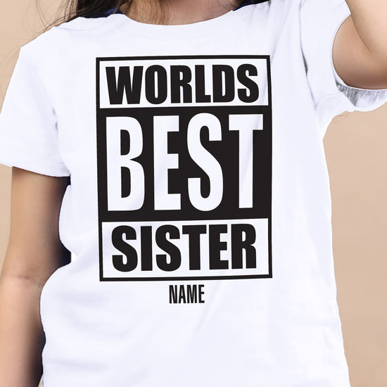 World's Best Sister, Personalised Tee For Sister
