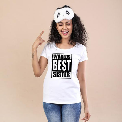 Worlds Best Sister Tees For Women