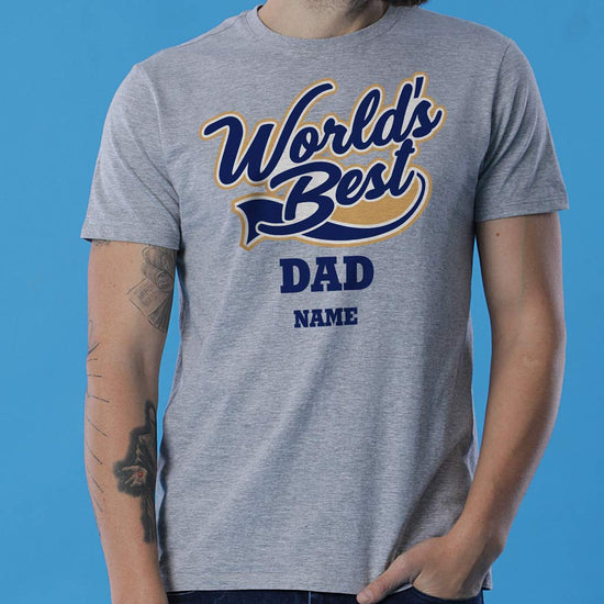 World's Best Dad, Personalized Tee For Dad