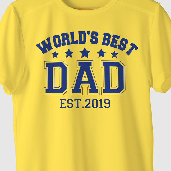 World's Best Dad, Customisable Tee For Dad