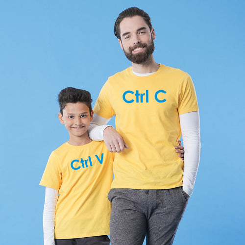 Ctrl C And Ctrl V Dad And Son T-Shirt