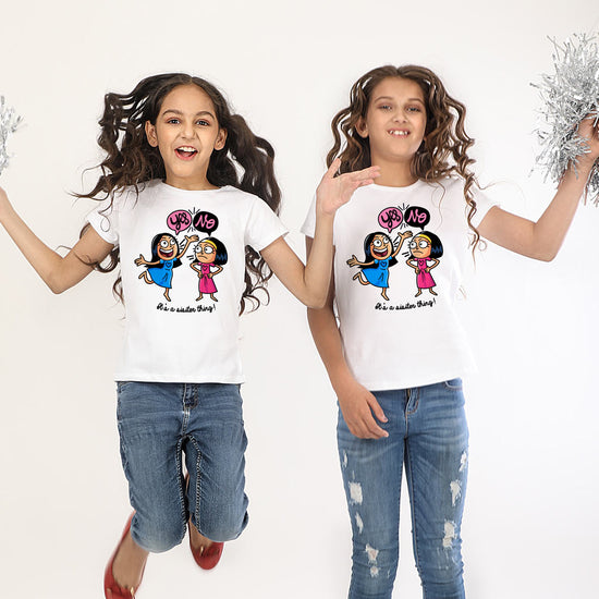 matching tees for sisters by bonorganik