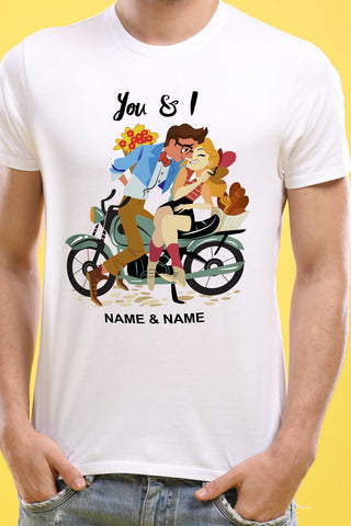 You And I, Matching Customisable Couples Tees
