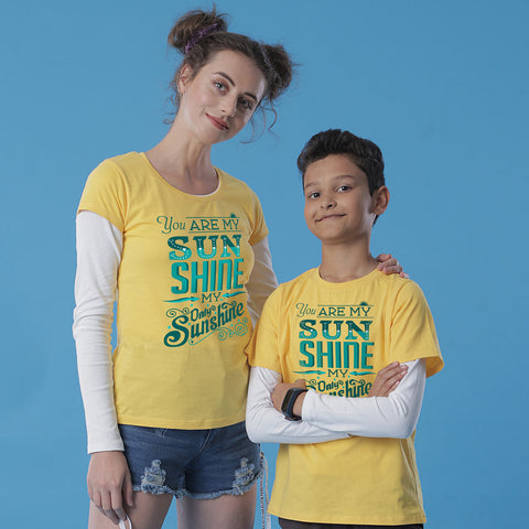 You Are My Sunshine Mom Son Tees