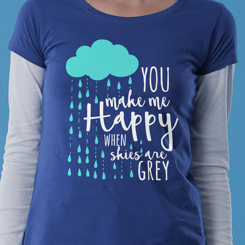 You Make Me Happy When Sky Are Grey Mom Son Tees