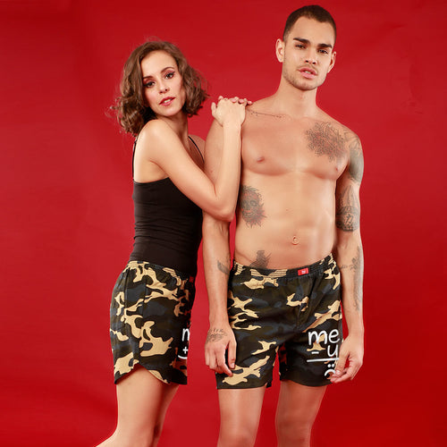 Me + U, Matching Camouflage Couple Boxers