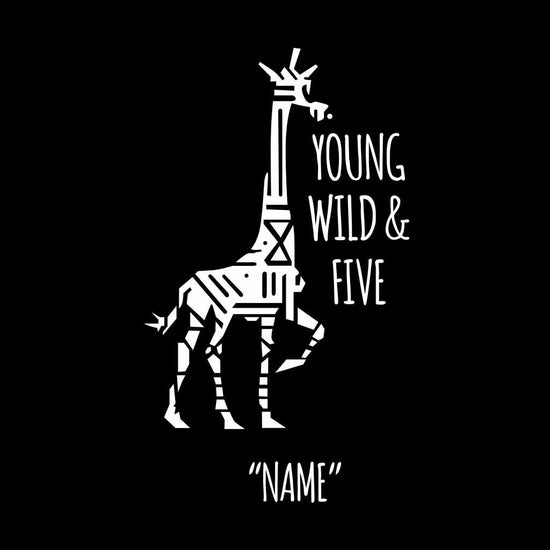Young Wild And Five Birthday Boy Tee