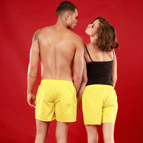 American Love, Matching Yellow Couple Boxers