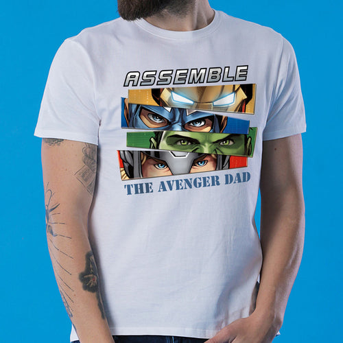 Assemble The Avenger Kid/Dad, Matching Marvel Tees For Dad And Son
