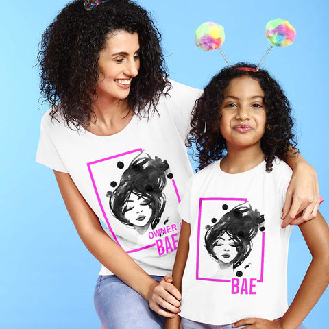 Bae First , Mom And Daughter Tees