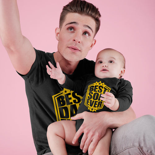 Best Dad and Son Ever Bodysuit and Tees