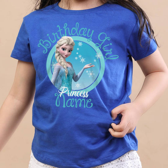 Elsa, Customized Frozen Tee For Birthday Girl