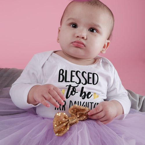 Blessed, Matching Tee And Bodysuit For Mom And Baby (Girl)
