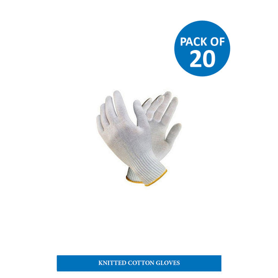 Reusable Knitted gloves ( pack of 20)