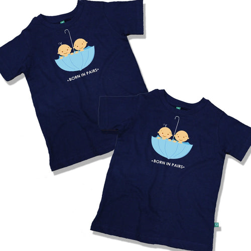 Born In Pairs Combo Tee For Twins