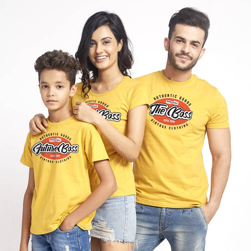 The Real Boss, Matching Family Dad/Mom/Son Tees