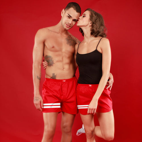 Bedroom Boss Similar Red Couple Boxers