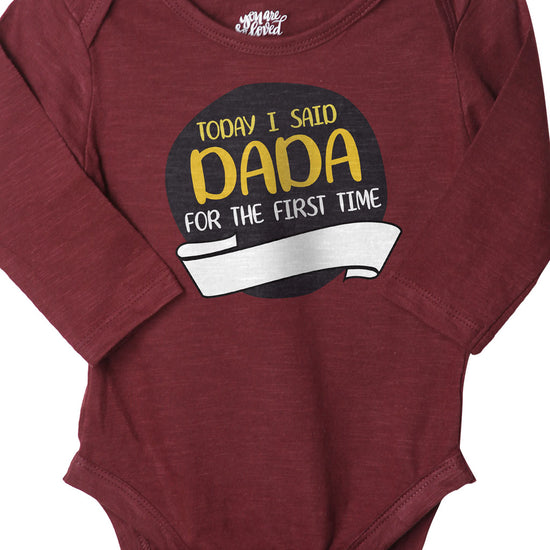 Today I Said Dada (Maroon), Bodysuit For Baby
