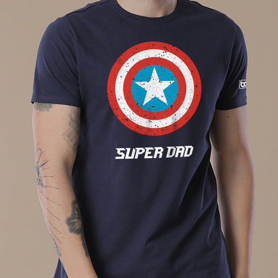 Captain America Shield Super Son/dad, Matching Marvel Tees For Dad And Son