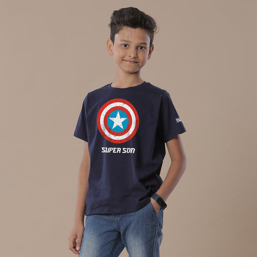 Captain America Shield Super Son Matching Marvel Tees For Son