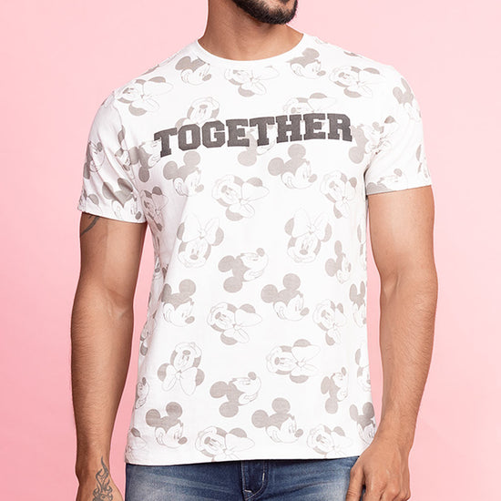 Together Forever (Off White) Matching Disney Tee And Dress For Couples