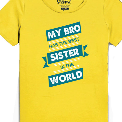 Best Siblings In The World, Matching Bodysuit And Tees For Brother And Sister