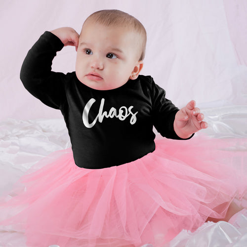 Chaos, Matching Tee And Bodysuit For Mom And Baby (Girl)