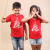 Christmas tree, brother and sister tees