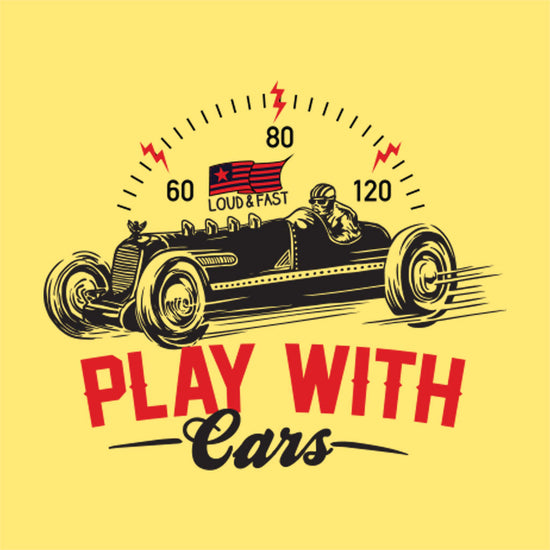 Yellow Play With Cars Father-Son Tees