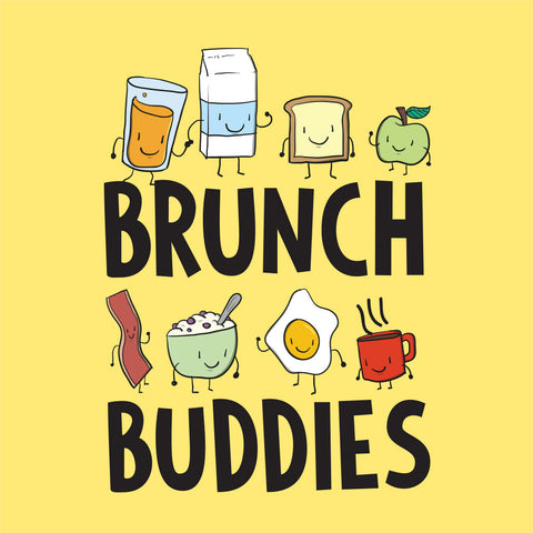 Yellow Brunch Buddies Father-Son Tees