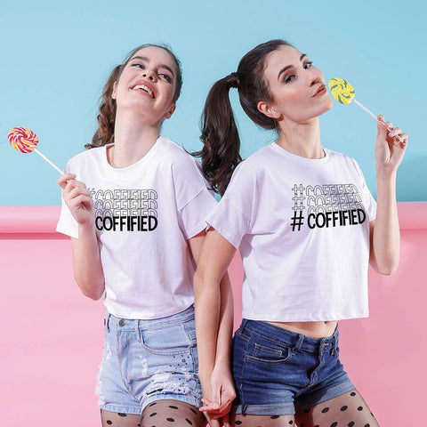Coffified, Crop Tops For Bffs