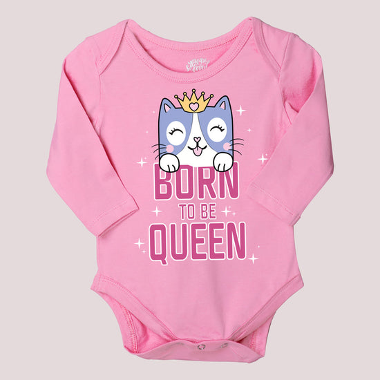 Born To Be Queen Set Of 3 Assorted Bodysuits For The Baby