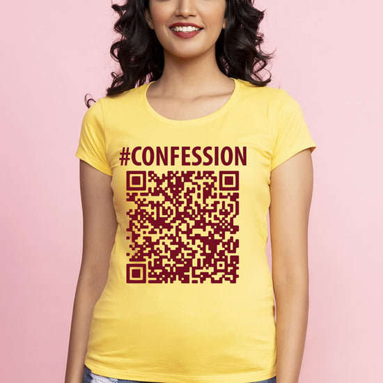 Confession Qr Code Matching Tees For Couples