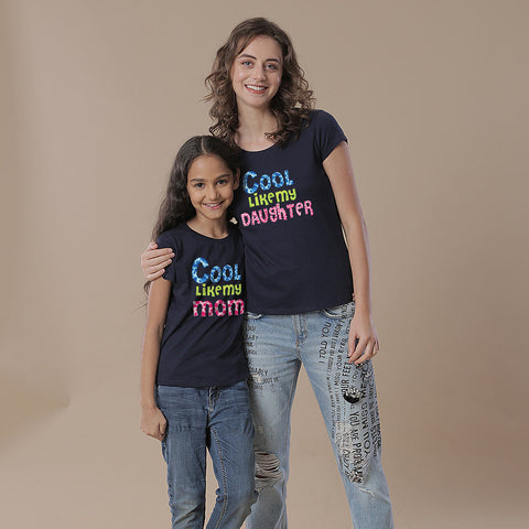 Cool Duo, Mom And Daughter Matching Tees