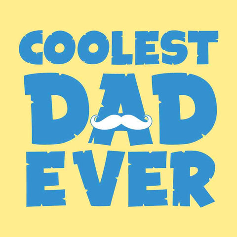 Yellow Coolest Dad/Son Ever Father-Son Tees