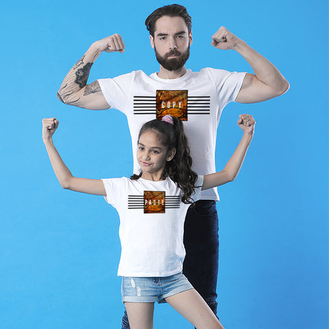 Copy Paste Dad and Daughter Tee