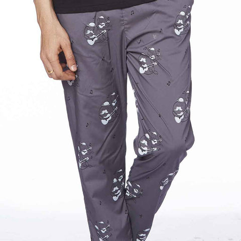Cotton rich Grey guitar print Pyjamas Only