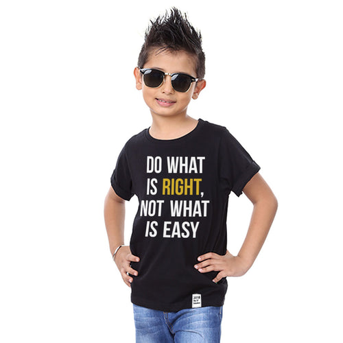 Do What is Right, Not What is Easy Tees for son