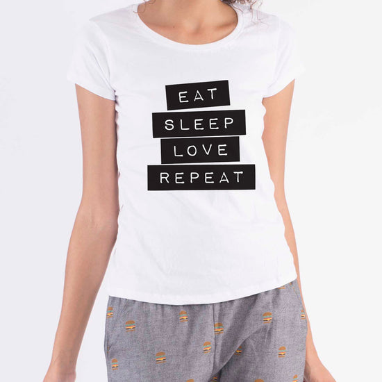 Sleep On Repeat,Matching Sleep Wear For Mom And Daughter