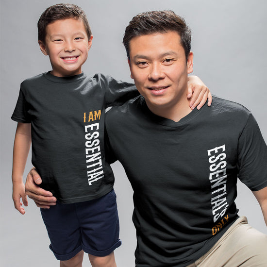 I Am Essential Matching Dad And Son Tees