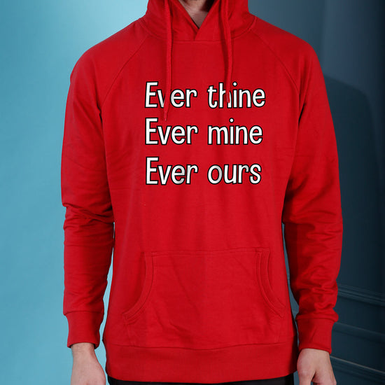 Ever Mine, Ever Ours, Matching Hoodie And Crop Hoodie For Couples