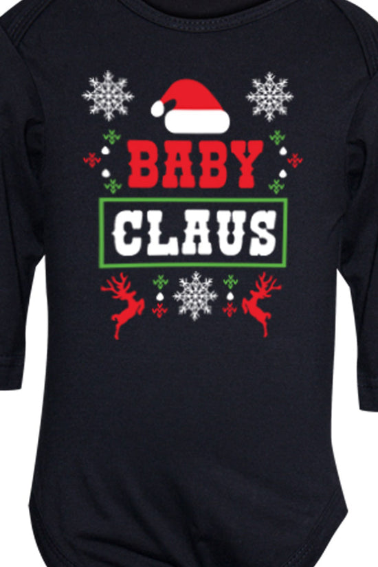 Family Claus Mom and Baby Bodysuit And Tees