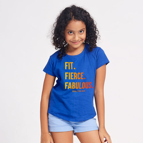 Fit, Fierce And Fabulous, Matching Family Tees