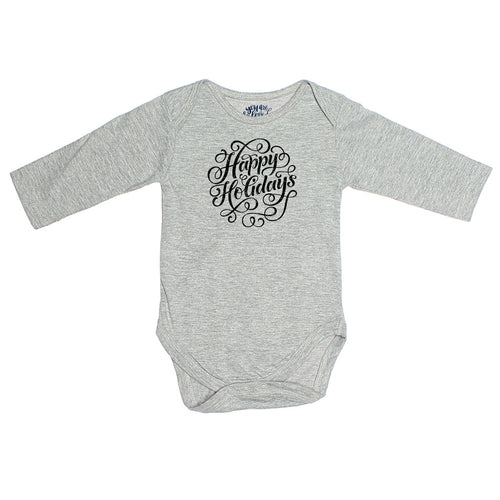 Happy Holidays, Matching Travel Tees For Infant