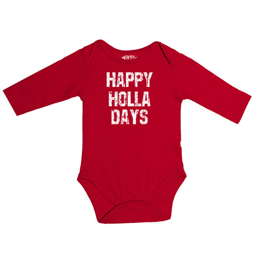Happy Holla Days, Matching Travel Tees For Infant